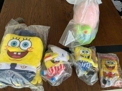 Singapore Airlines / Changi Airport / McDonalds' Spongebob soft toys