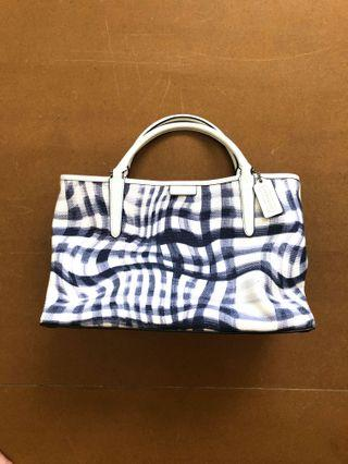 Coach tote Bag blue and white [Price Drop]