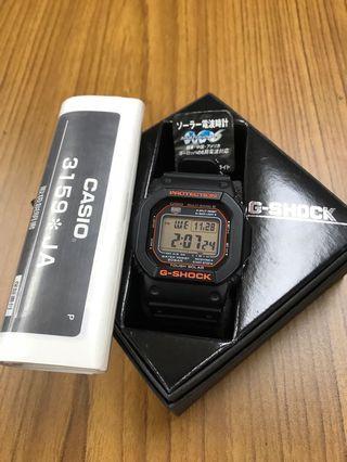 """Casio G-Shock GW-M5610R-1JF """"Origin"""" Tough Solar Multiband 6 Watch LE {no tag}"""