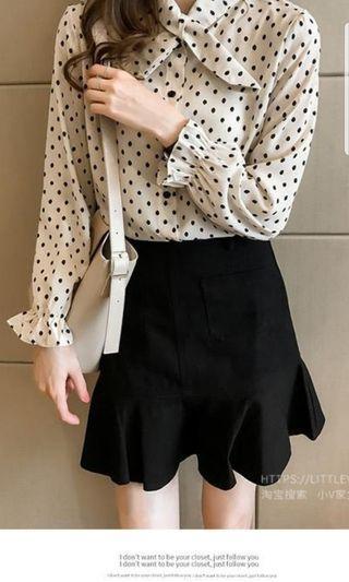 Long sleeve soft blouse