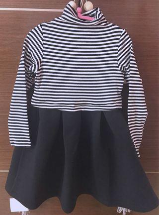 Premium stripes dress kids