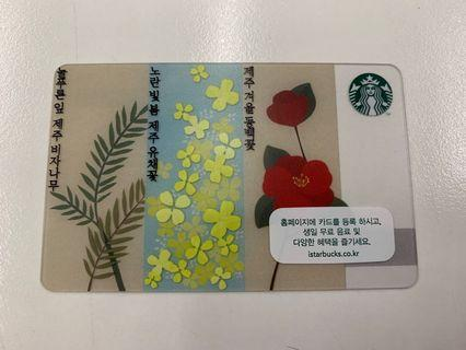 [不交換] 濟州春季限定Starbucks Card 星巴克卡 jeju 濟州 韓國 春季