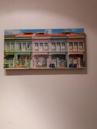 🚚 Sandra Macheroux Singapore Shophouse Canvas Print