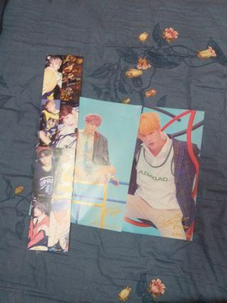 BTS folded photo and poster