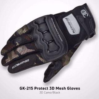 Komine Motorcycle Gloves GK-215 - Touchscreen compatible