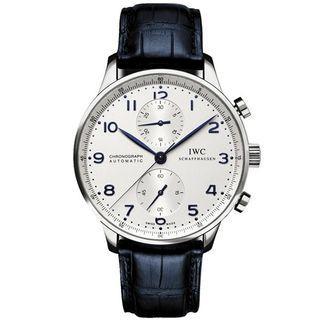 IWC Portuguese IW371446 大葡萄牙系列 白面藍針 計時腕錶-40.9mm