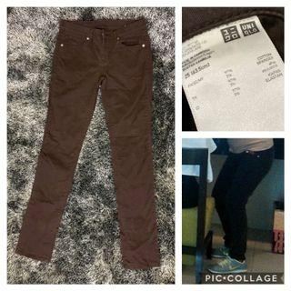 Uniqlo Brown Cotton Pants, Size 25, in very good condition, used twice