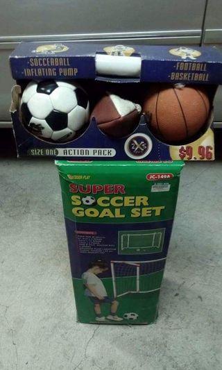🚚 球框加3種比賽球類運動/露營區戶外休閒活動