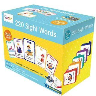 <Saalin> 220 Sight Words Box Set (220張字卡+5冊練習本)