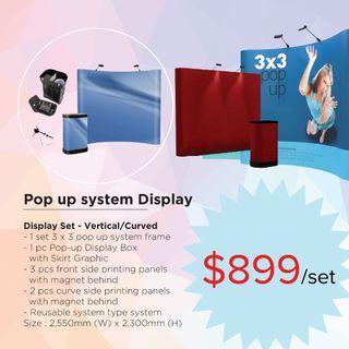 Pop up system Display Printing