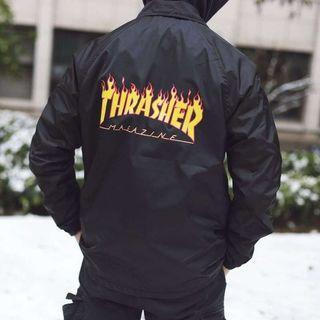 Thrasher 火焰 🔥教練夾克 7折 正品防風外套 尺寸S~XL