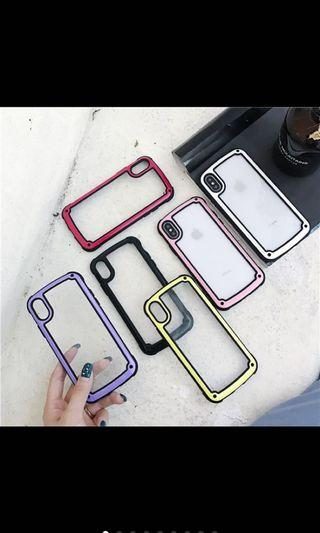 🚚 Jelly Color soft silicon border Clear back cover cases