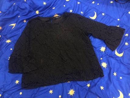 Blouse lace (black)