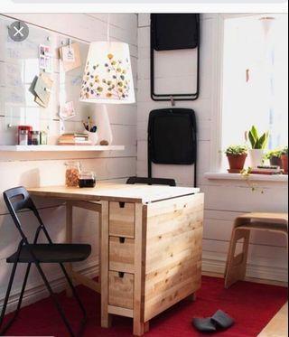 IKEA NORDEN TABLE (birch)