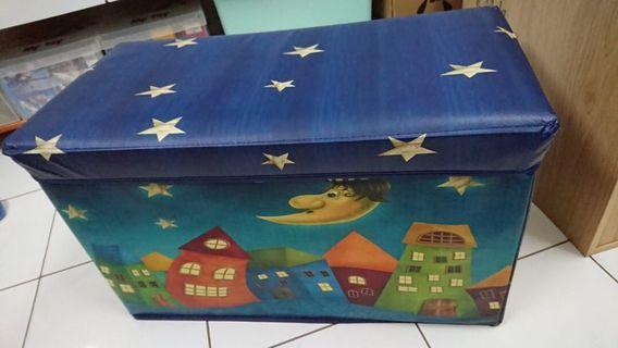 Foldable storage box & stool