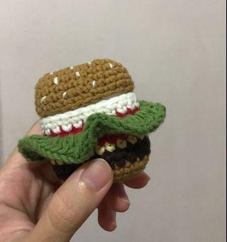 Hamburger Crochet Airpods Case