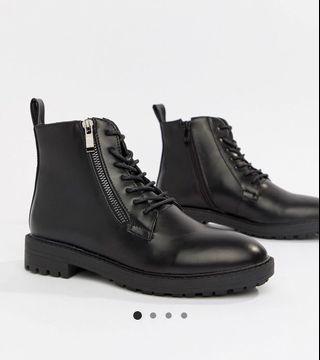 RAID Black Ankle Boots