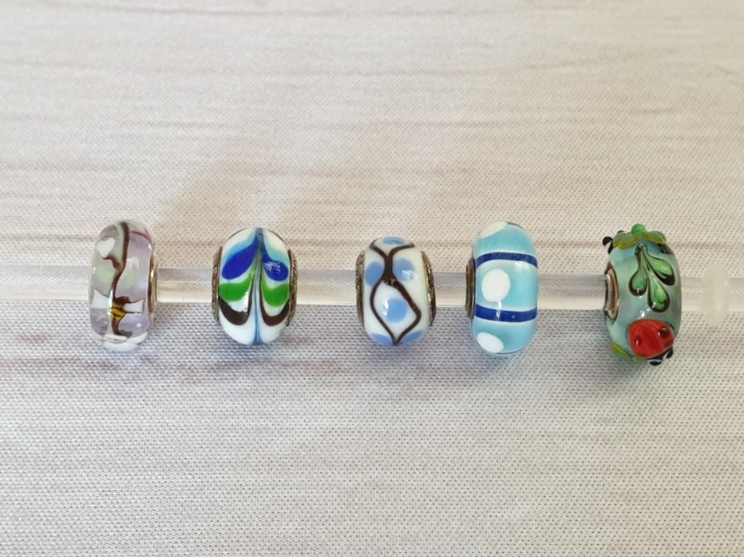 4c0508fdfbd22 925 Sterling Silver Murano Glass Charms fits Pandora Trollbeads ...