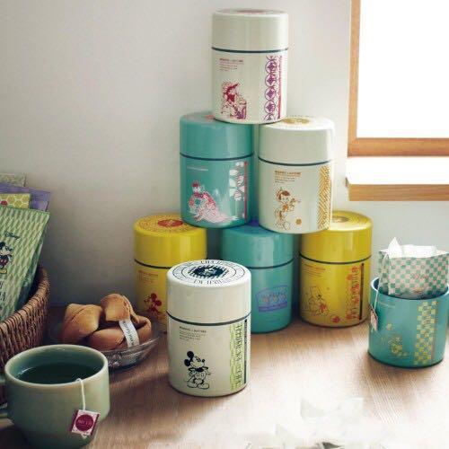 日本 🇯🇵 迪士尼 茶筒 + 茶包  套裝 -  米妮 唐老鴨  鋼牙與大鼻 史力仔 美女與野獸 小鹿班比 小飛俠 木偶奇遇記 愛麗絲夢遊仙境