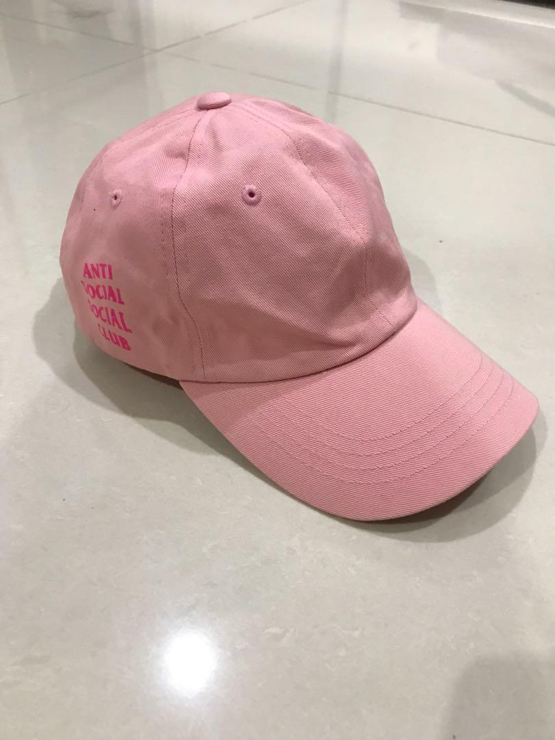 Anti social social club ASSC Weird Cap Pink on Pink #mauthr