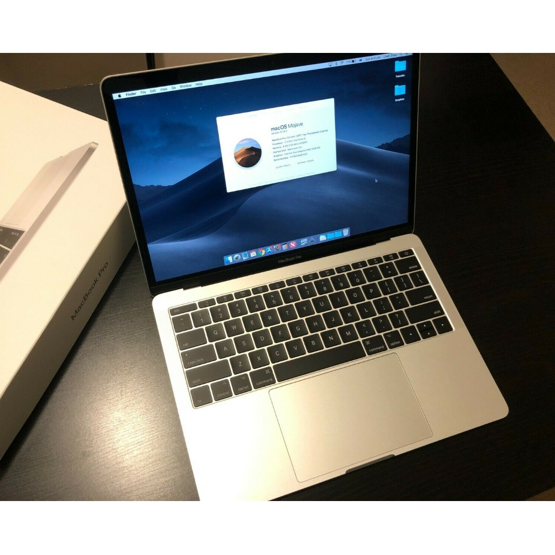 "Apple MacBook Pro 13"" Laptop, 256GB MPXU2X/A Silver immaculate AS NEW condition"