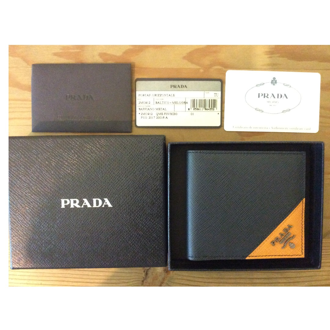 156fee9554eb3d Authentic] [Brand New] PRADA Men's Wallet, Men's Fashion, Bags ...