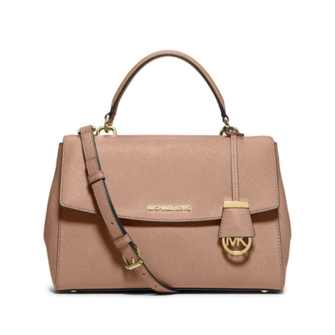 afe051d855fbc Authentic MK Michael Kors Ava Small Saffiano Leather Satchel Shoulder  Crossbody Sling Bag, Luxury, Bags & Wallets, Sling Bags on Carousell