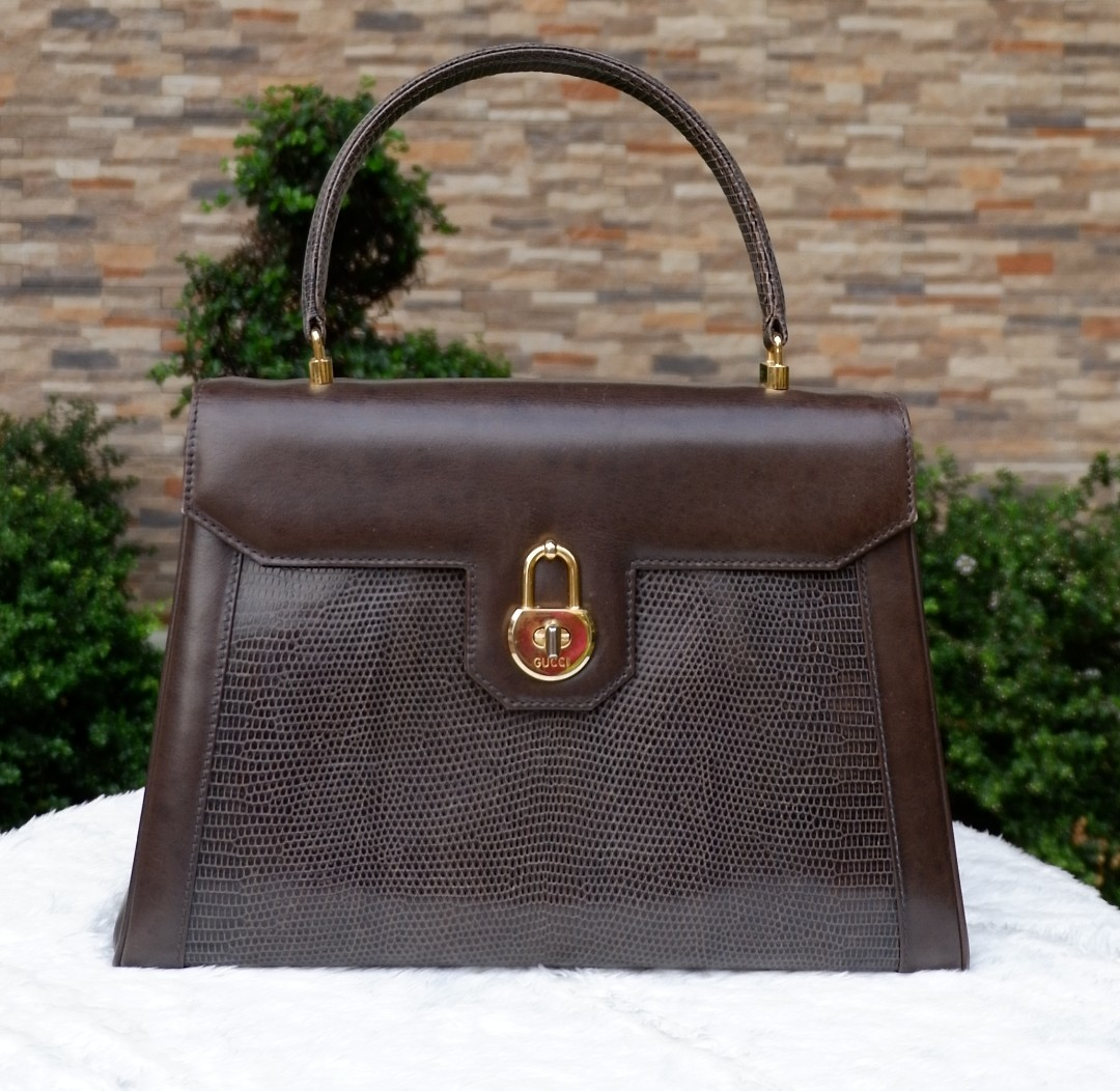 d2e3a9d18 Authentic Vintage Gucci Kelly (Top Handle) Bag, Luxury, Bags & Wallets on  Carousell