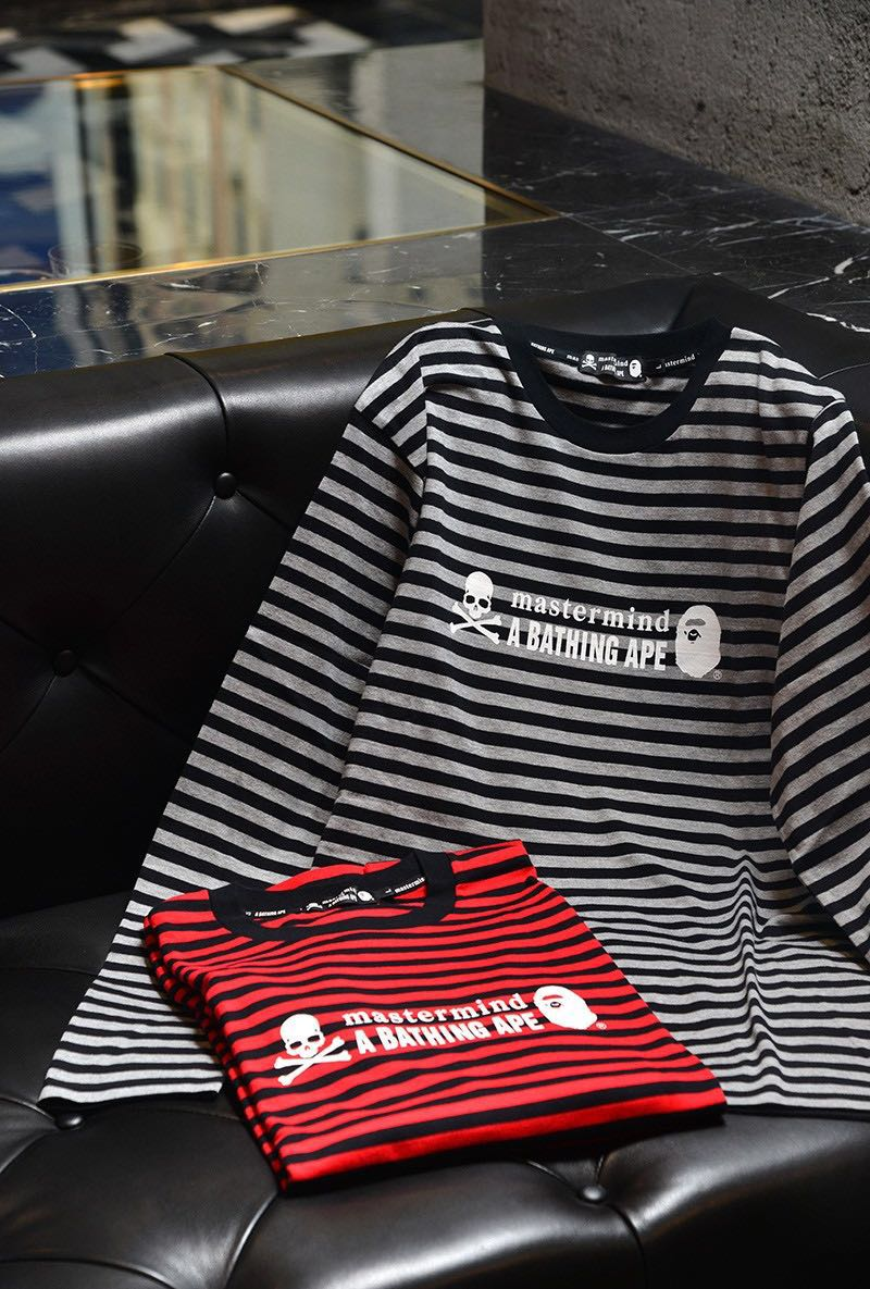 f4cd844ec76c BAPE X MASTERMIND STRIPED L/S TEE, Men's Fashion, Clothes, Tops on Carousell