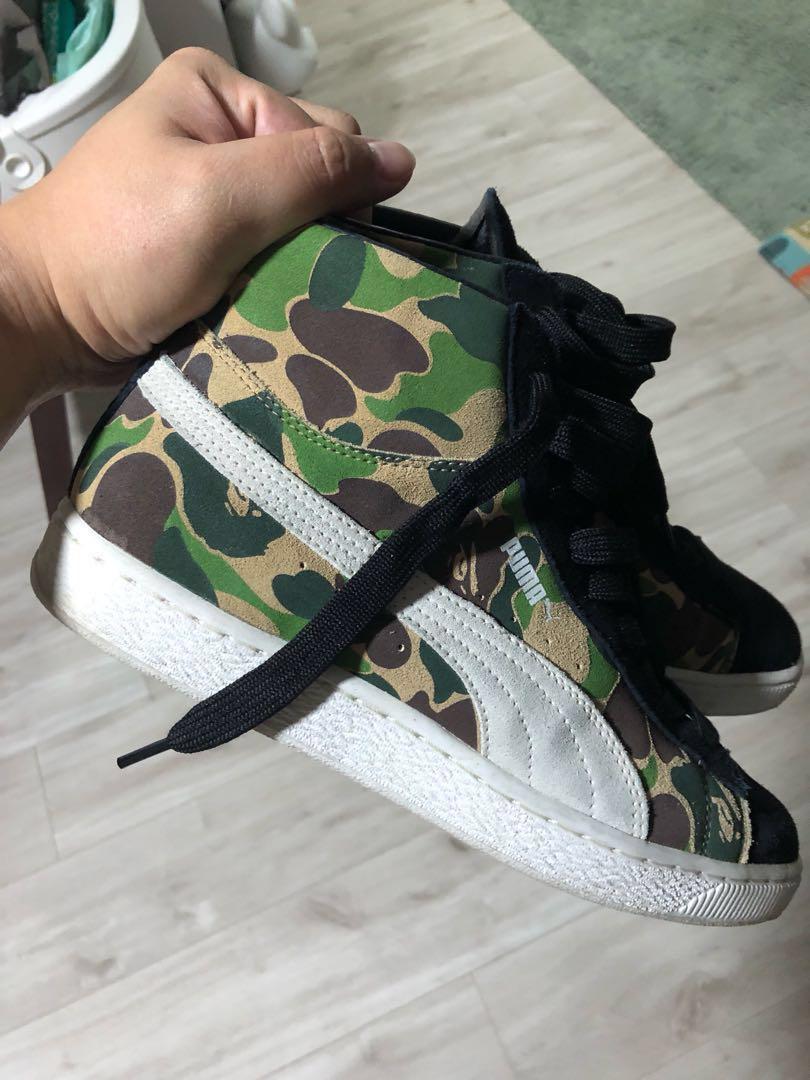 sneakers for cheap 09544 ebe4b bape x puma suede more kira