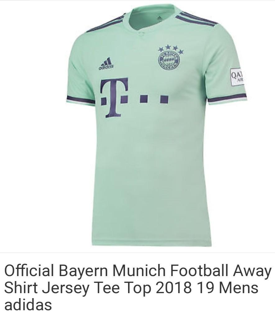 newest 23a2d f5d89 Bayern Munich green away on Carousell