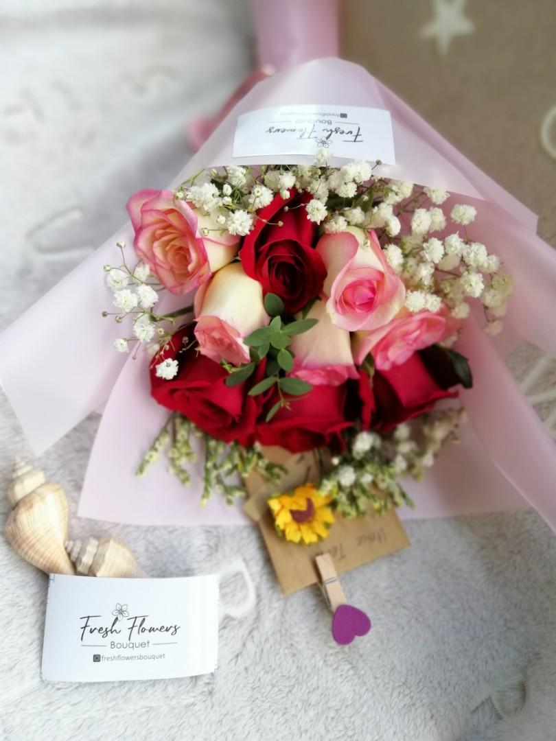 Birthday Gift Anniversary Flower Roses Surprise Fresh