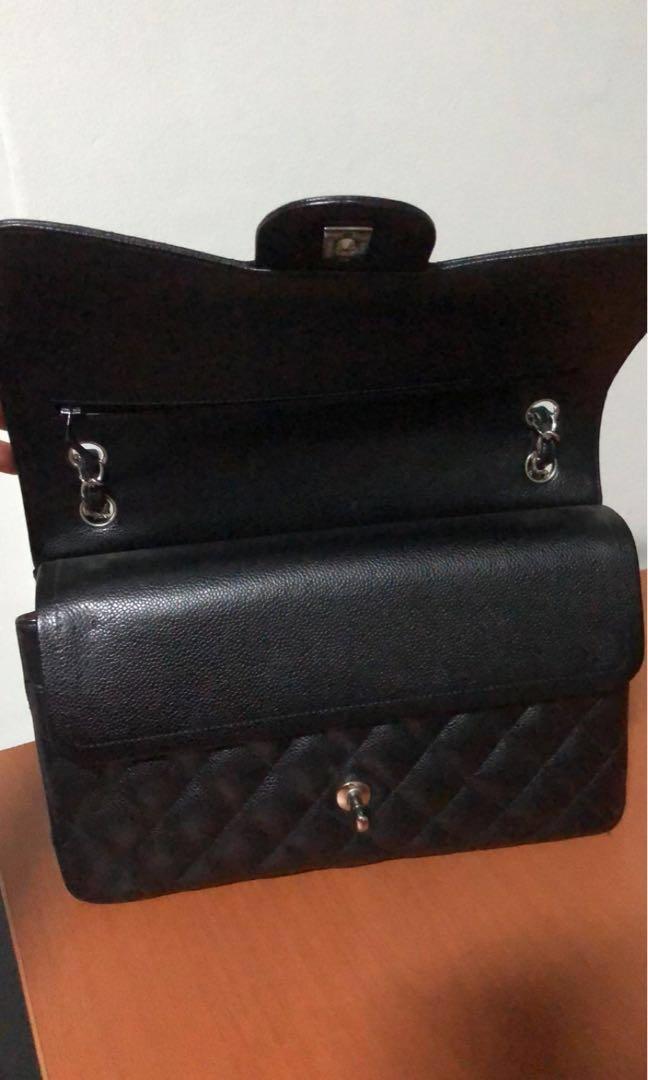 88d4ed851c9c BNIB Chanel Classic Jumbo Flap SHW