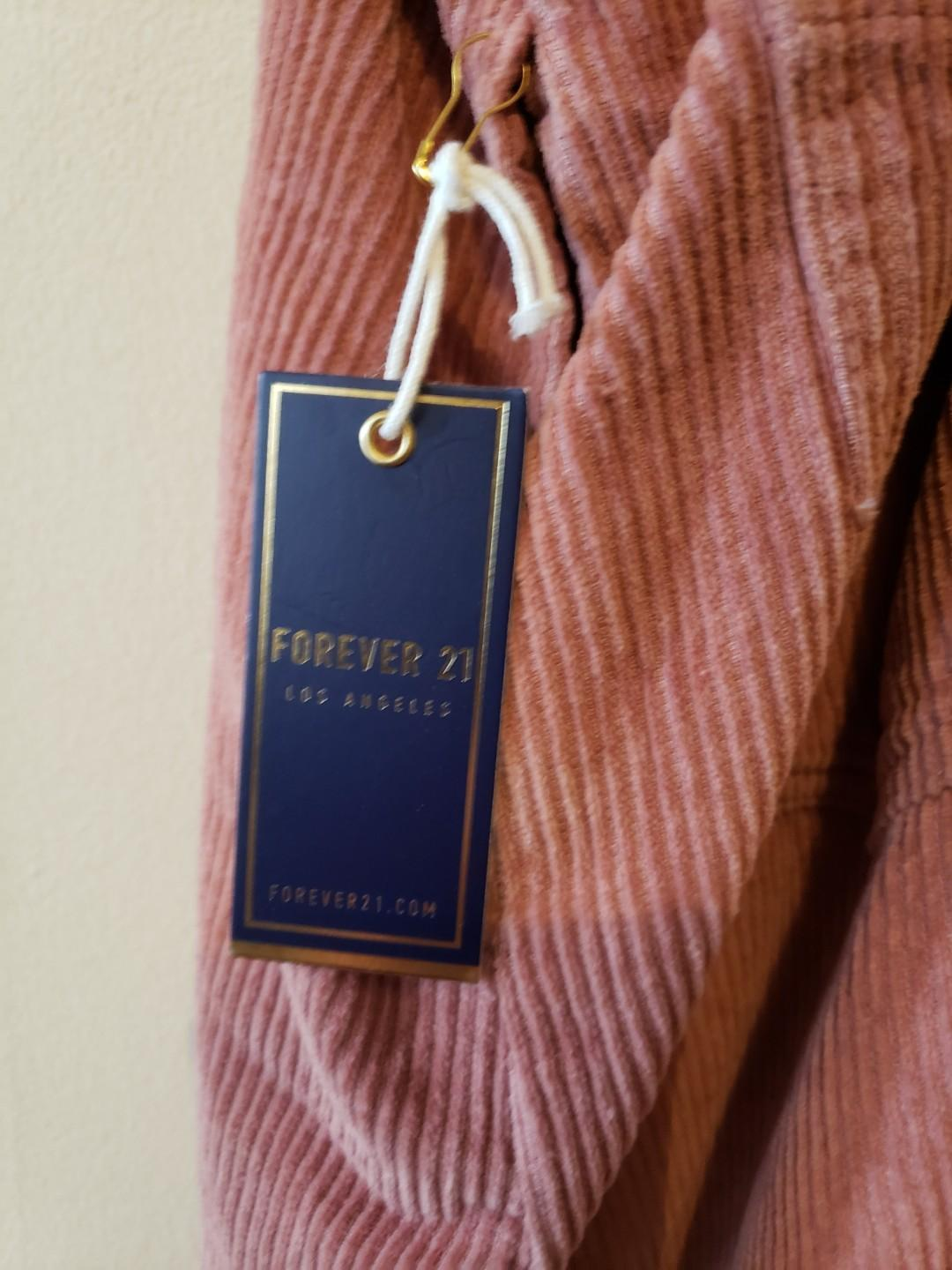 BRAND NEW FOREVER 21 DUSTY PINK OVERALL DRESS
