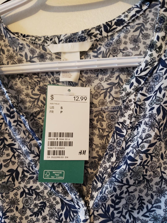 BRAND NEW H&M FLORAL PRINT SHIRT