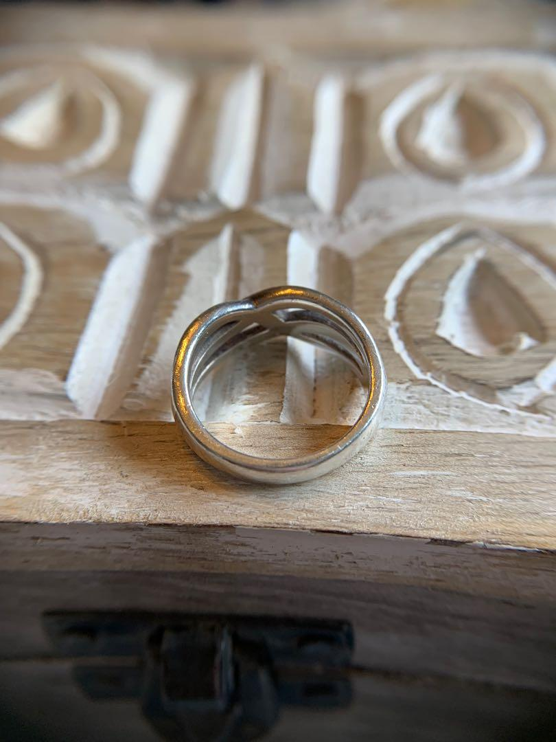 Celtic twist silver ring