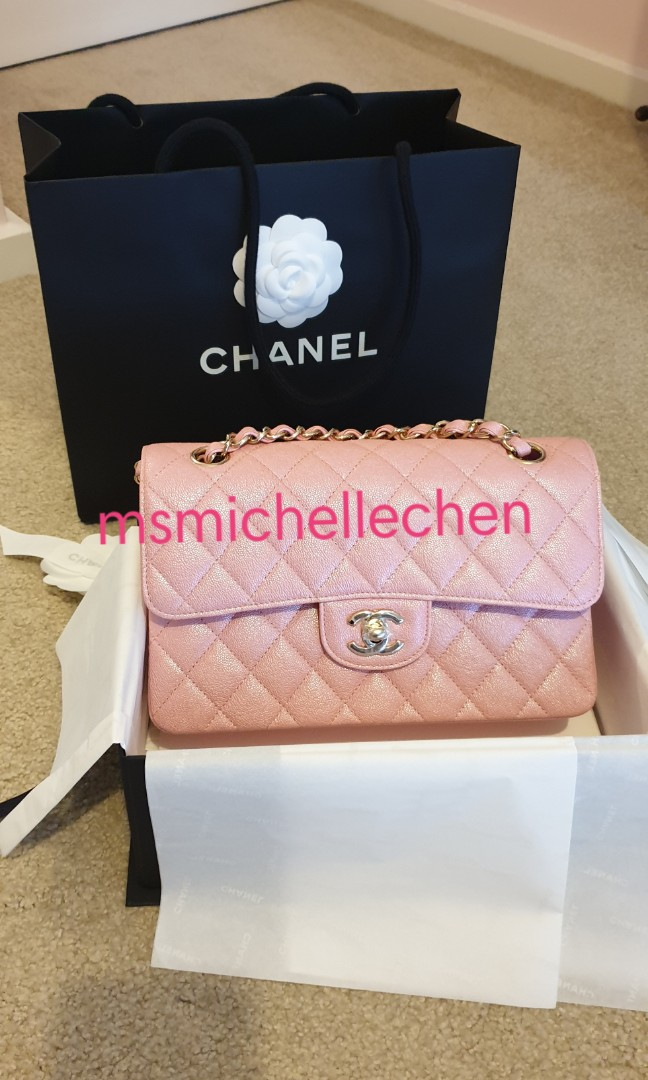 0d1ba8d07ba7 Chanel 19s iridescent pink small classic flap - Brand New, Luxury ...