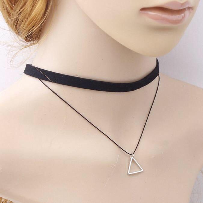 Choker Necklace Set New Women Bohemia Sexy Black Leather Choker Necklace Jewelry