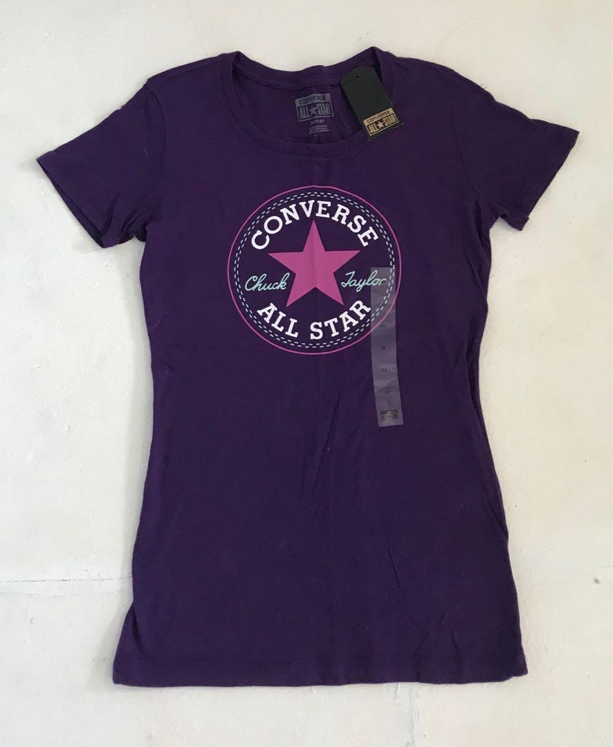 Converse all stars chuck Taylor t-shirt top size XS /8