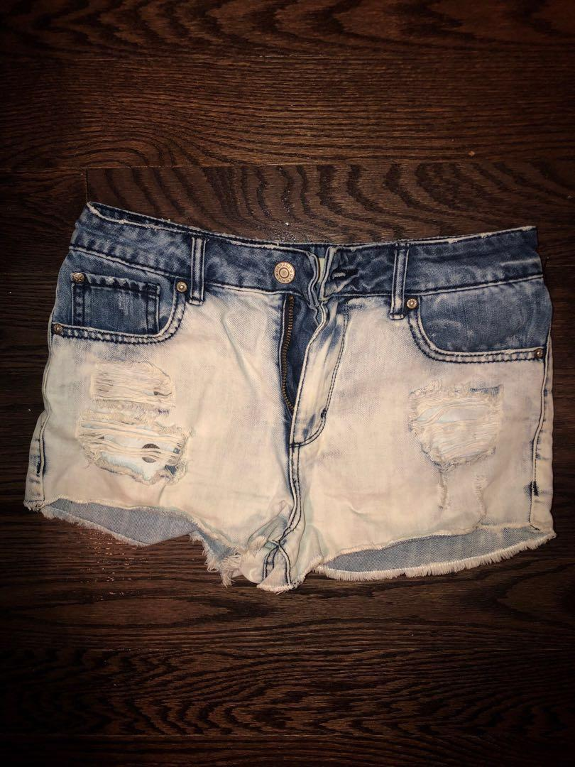Denim high waisted shorts size 3 (small)