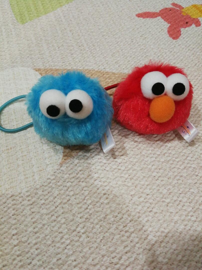 Elmo and cookie monster hair scrunchie