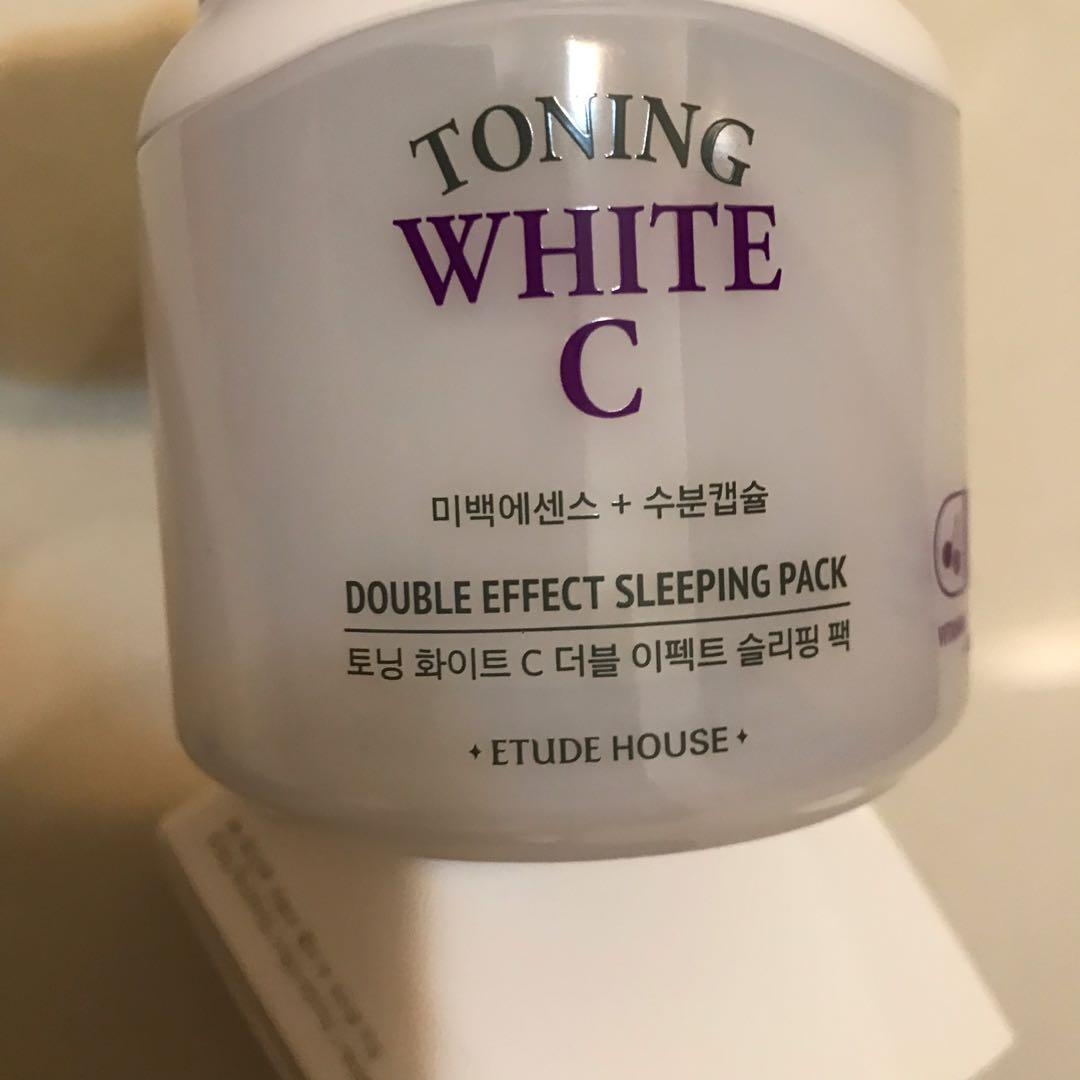 Etude House Toning White C DOUBLE EFFECT SLEEPING PACK 100mL