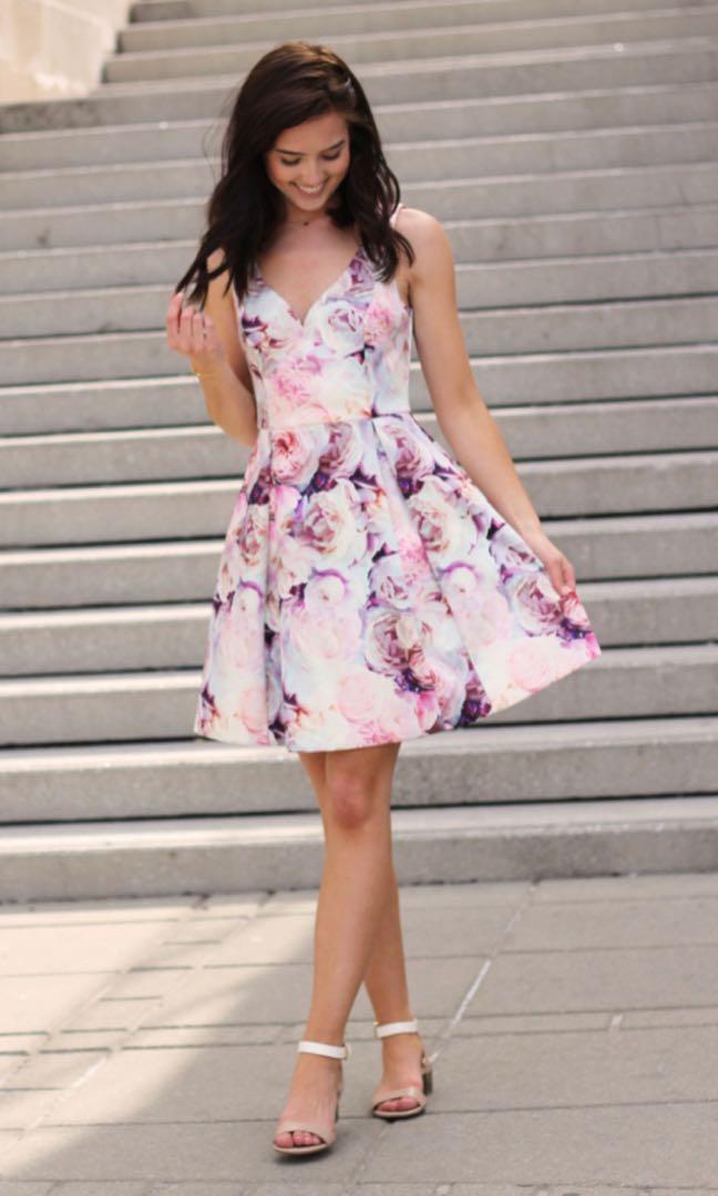 Evernew floral dress -00