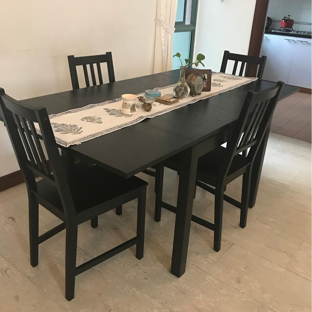 Extendable Dining Table Set Furniture Tables Chairs On Carousell