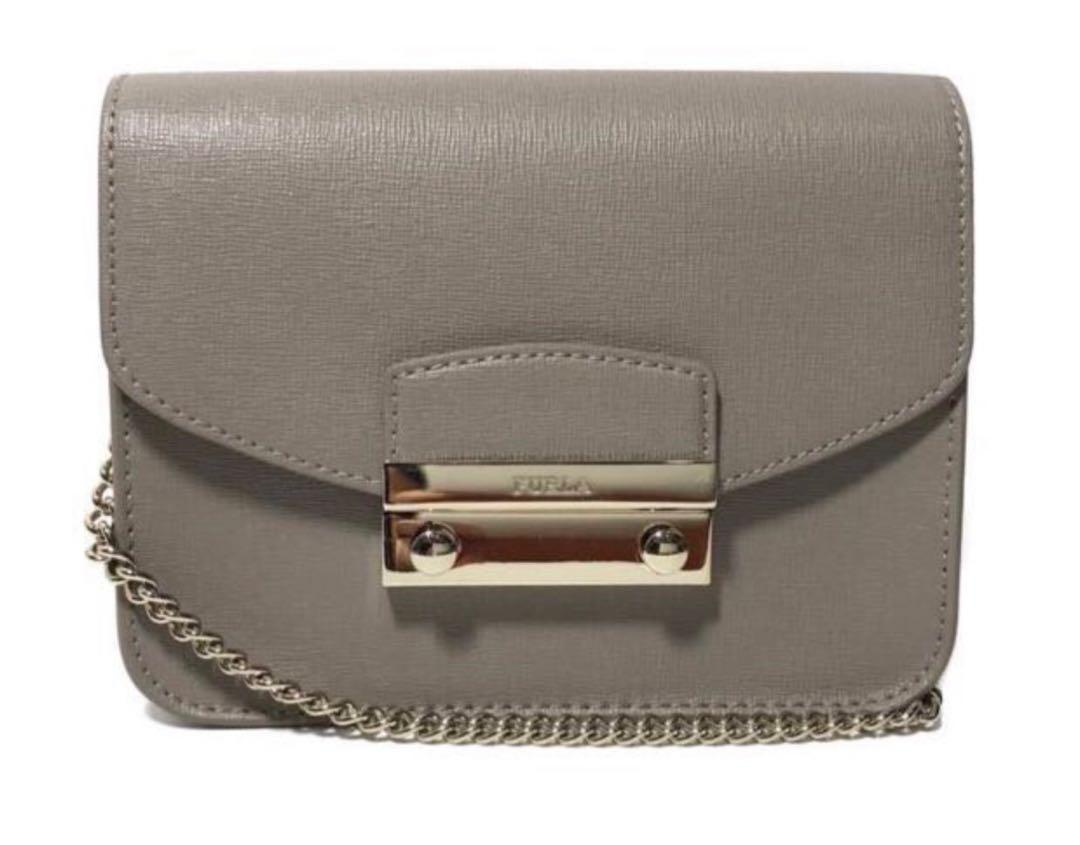 Furla Julia Mini Leather Grey Bag
