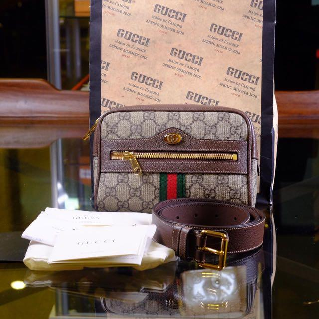 Gucci Ophidia GG Belt Bag size 85 (Strap, Db, PB, Tag, Booklet, Rec plaza indo januari 2019)