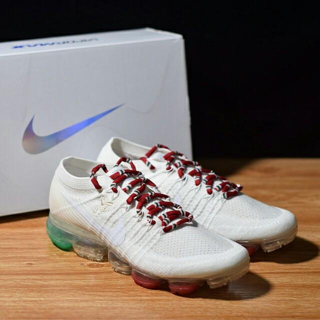 928ac23048e47 Gucci x Nike Air VaporMax Flyknit 蒸汽大氣墊慢跑鞋AB3381-100 ...