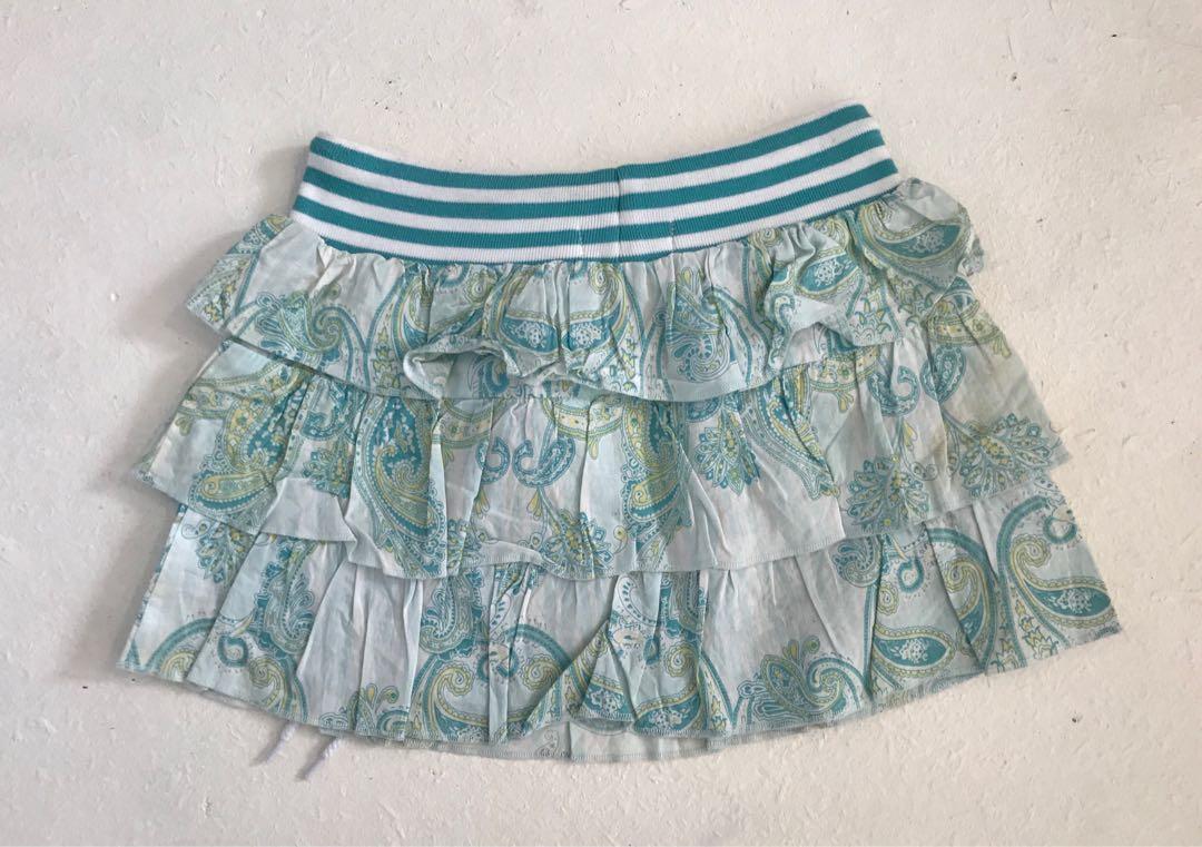 GUESS girls drilled skirt size 6 light blue mint tones