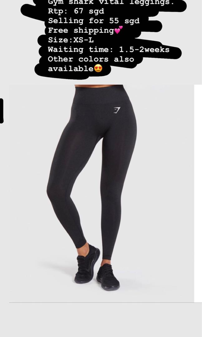 888cb6aaafa1de Gymshark vital leggings, Sports, Sports Apparel on Carousell