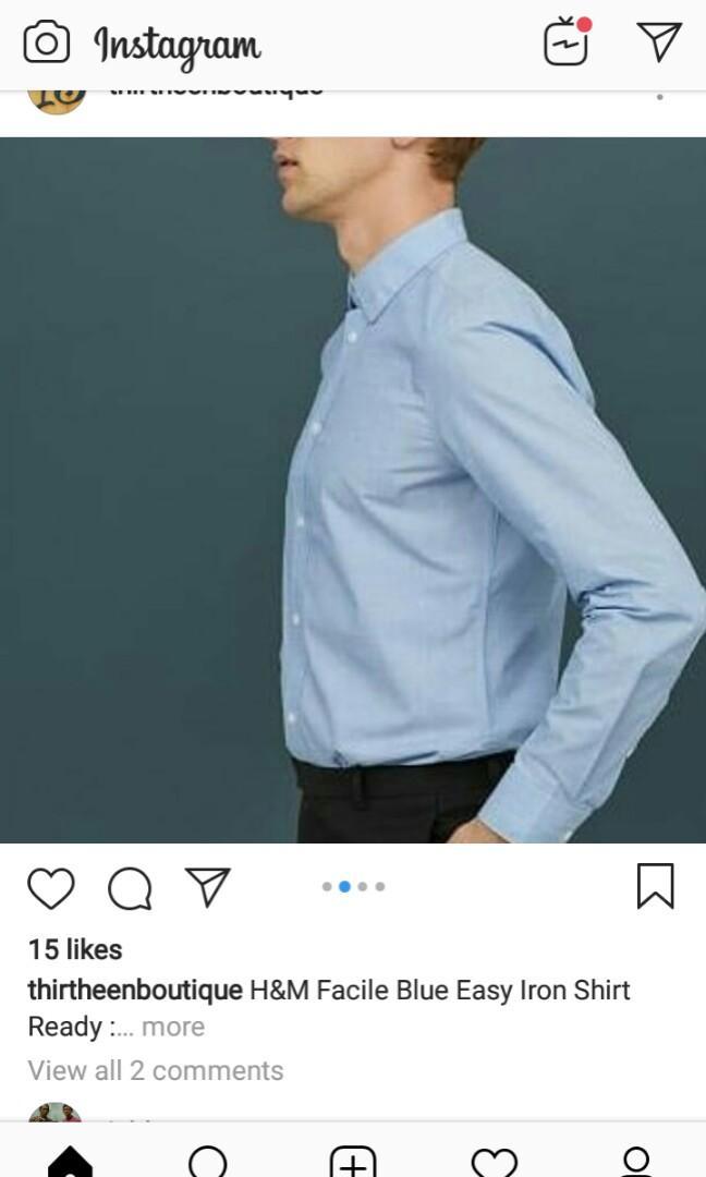 H&M kemeja lengan panjang